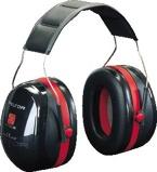 Afbeelding van3M Peltor H540 Optime lll Gehoorkap met hoofdbeugel Zwart/Rood
