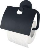 Afbeelding vanHaceka Kosmos Toiletrolhouder met klep Zwart