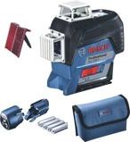 Afbeelding vanBosch Blauw GLL 3 80 C Kruislijnlaser op 4x AA batterijen 0601063R00
