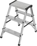 Afbeelding vanBrennenstuhl dubbele trapladder aluminium 2x3 sporten hoogte bok ladder 0,61m