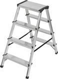 Afbeelding vanBrennenstuhl dubbele trapladder aluminium 2x4 sporten hoogte bok ladder 0,82m