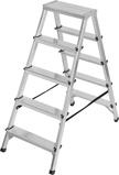 Afbeelding vanBrennenstuhl dubbele trapladder aluminium 2x5 sporten hoogte bok ladder 1,04m