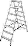 Afbeelding vanBrennenstuhl dubbele trapladder aluminium 2x7 sporten hoogte bok ladder 1,46m