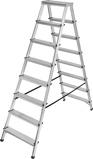 Afbeelding vanBrennenstuhl dubbele trapladder aluminium 2x8 sporten hoogte bok ladder 1,68m