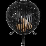Afbeelding vanEsschert Design Vuurkorf balvormig strepen koolstofstaal zwart FF400