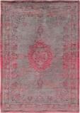 Afbeelding vanLouis de Poortere Fading World Medallion vloerkleed (Afmetingen: 200x140 cm, Basiskleur: rood/roze/grijs)
