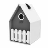 Afbeelding vanMeuwissen Agro Landhaus bird house wit/antraciet