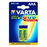 Afbeelding vanBatterij oplaadbaar Varta 2xAAA 800mAh ready2use Oplaadbare Batterijen