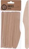 Abbildung vonEinwegmesser Holz 20 Stück