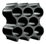 Afbeelding vanKoziol wijnrek stapelbaar set up zwart 36 cm