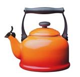 Afbeelding vanLe Creuset Fluitketel Tradition Oranje Rood 2.1 Liter
