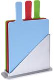 Afbeelding vanShoppartners Snijplanken set met houder - Groente, vlees en vis snijplanken