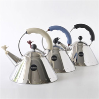 Thumbnail of Alessi whistling kettle 9093 (Colour: black/silver)