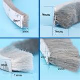 Εικόνα του3Meters/5Meters Brush Strip Self Adhesive Door Window Sealing Strip Home Door Window Sound Insulation Wind proof Strip Gasket