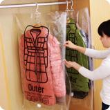 Εικόνα του1 Pc Vacuum Storage Bag Clear Clothes Sorting Bag Garment Bag Clothing Dust Cover for Garderobe Wardrobe Closet