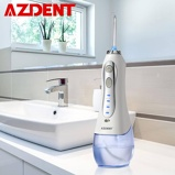Imagem deNew 3 Modes Cordless Oral Irrigator Portable Water Dental Flosser USB Rechargeable Water Jet Floss Tooth Pick 5 Jet Tips 300ml
