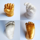 "Bild av""Baby 3D hand footprint print, leaving a good memory for the baby, baby hand and foot marks, baby supplies"""