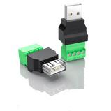 Εικόνα του1Pc USB 2.0 Type A Male/Female to Screw Connector USB Jack USB plug with Shield connector USB2.0 to Screw Terminal Plug