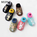 Εικόνα τουCotton Baby Boys Girls Socks Rubber Slip resistant Floor Socks Cartoon Infant Kids Animal Socks Winter Autumn Thicken Warm Shoes