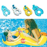 Imagem deMother Baby Swim Shade Float Circle Ring Kids Seat Parent child Swimming Pool Accessories Baby Neck Float Inflatable Swim Ring