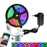 Image ofRGB LED Strip Light SMD 2835 5M Waterproof RGB Tape DC12V Ribbon diode led Strips Light Flexible Stripe Lamp IR WIFI Controller