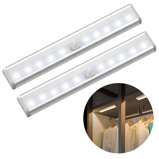 Imagem de6/10 LEDs PIR LED Motion Sensor Light Cupboard Wardrobe Bed Lamp LED Under Cabinet Night Light For Closet Stairs Kitchen