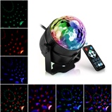 Imagem deLed Disco Light Music Sound Activated Stage Lights Mini Rotating Laser Projector Christmas Party Show Effect Lamp with Control