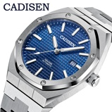Εικόνα τουCADISEN Brand Top Luxury AP Royal oak Men Watches Mechanical Automatic Blue Watch Men Casual Business Design luminous Wristwatch