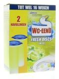 Afbeelding vanWc Eend Fresh disk lime navul 36 ml 2x36ml