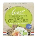 Afbeelding vanLeev Bio lijnzaad boekweit cracker glutenvrij (110 gram)