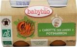 Afbeelding vanBabybio Groenten Wortel Potimarron 130 gram, 2x130 gram