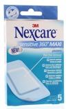 Afbeelding van3M Nexcare sensitive 360 graden maxi 5 stuks