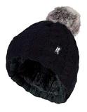Afbeelding vanHeat Holders Ladies Turnover Cable Hat With Pom Black, 1 stuks