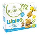 Afbeelding vanBisson Ludino koekjes met melkchocolade 4 zakjes (160 gram)