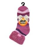Afbeelding vanHeat Holders Ladies Lounge Socks 4 8 37 42 Muted Pink Stripe (1paar)