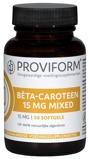 Afbeelding vanProviform Betacaroteen 15 Mg Mixed, 50 Soft tabs