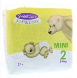 Afbeelding vanSweetcare Luiers Soft & Easy Mini Nr 2 3 6kg (24st)