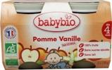 Afbeelding vanBabybio Dessert Appel Vanille 4 Maanden 130 gram, 2x130 gram