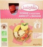 Afbeelding vanBabybio Vruchtenmoes Appel Abrikoos Banaan 90 gram, 4x90 gram