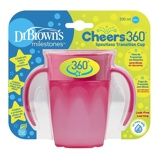 Afbeelding vanDr Brown's Cheers 360º Roze 200ml Drinkbeker TC71003 INTL