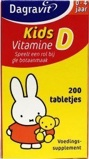 Afbeelding vanDagravit Vitamine D tablet kids (200 stuks)