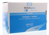 Afbeelding vanHekapres Hydrofiel Gaaskompres 5 X 9, 100 stuks