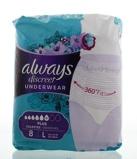 Afbeelding vanAlways Discreet Underwear Broekjes Maat L, 8 stuks