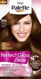 Afbeelding vanSchwarzkopf Poly Palette Perfect Gloss haarkleuring 566 Subliem Kastanje
