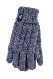 Afbeelding vanHeat Holders Ladies Cable Gloves M/l Navy (1paar)