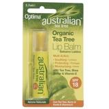 Afbeelding vanOptima Australian tea tee lippenbalsem spf18 4 gram