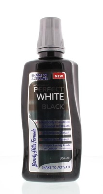 Afbeelding van Beverly Hills Perfect White Black Sensitive Mouthwash, 500 ml