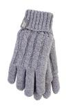 Afbeelding vanHeat Holders Ladies Cable Gloves M/l Light Grey (1paar)