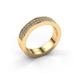 Afbeelding vanAanschuifring Catharina 4 375 goud lab grown diamant 0.36 crt