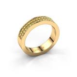 Afbeelding vanAanschuifring Catharina 4 375 goud gele saffier 1.3 mm